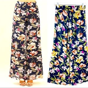 Miss Avenue Floral Layered Palazzo Pants S
